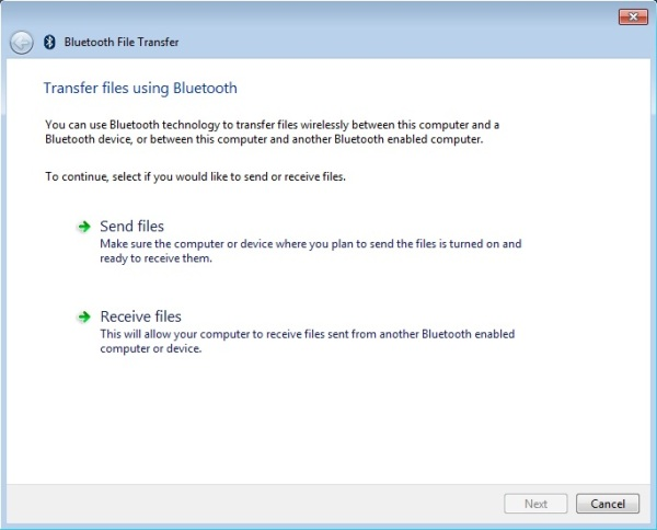 Transfer file using Bluetooth Technology