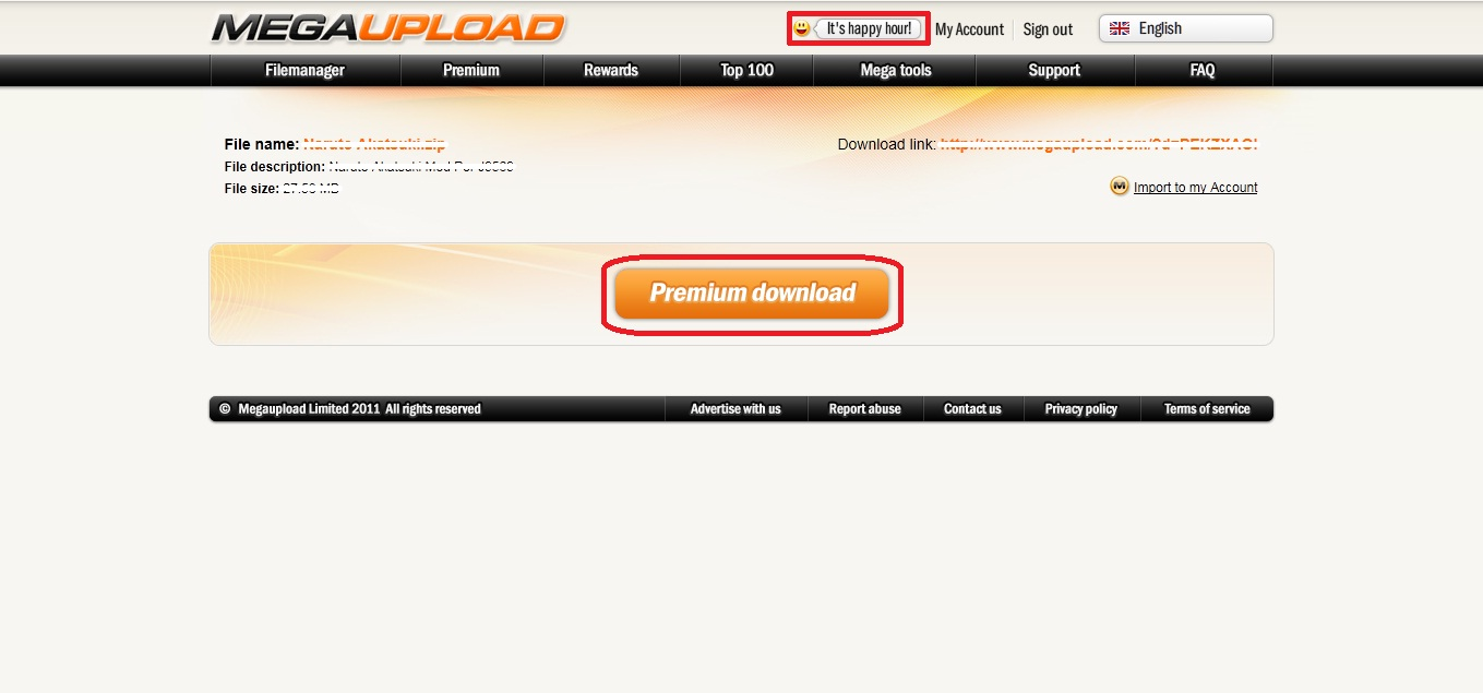 Free Account, Premium Download from MEGAUPLOAD with Megakey « ADVDI ...
