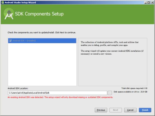 installed SDK detected