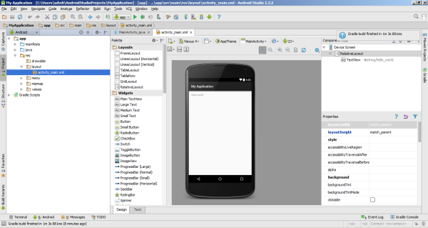 android studio first look