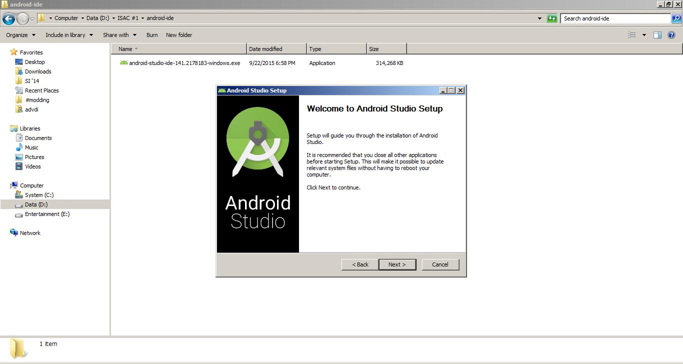 install android studio offline with sdk advdi